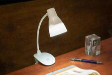Small USB Battery Powered Clip Clamp On Lamp Desk Computer Clampon Light