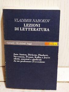 Lezioni di Letteratura Nabokov Prima edizione Garzanti Gli elefanti Saggi 1992
