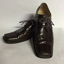 REDUCED! Giovanni Classic Men's Leather Oxford Shoes Dark Brown Size 10 Nice!