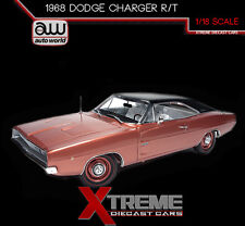 AUTOWORLD AMM1075 1:18 1968 DODGE CHARGER R/T 426 HEMMINGS MAGAZINE LTD 1002PCS