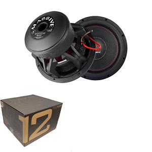 "Massive Audio 12"" 2000W Dual 4 Ohm Car Audio Subwoofer KILOX124"