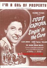 "SINGIN' IN THE CORN Sheet Music ""I'm A Gal Of Property"" Judy Canova"