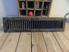 "LONG HEATING FLOOR REGISTER w/ CORRUGATED GRATE/AIR VENT 12x55"" INDUSTRIAL VTG"