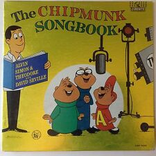 "THE CHIPMUNKS~""Songbook"" Original Vinyl Record  LIBERTY LRP 3229 MONO"