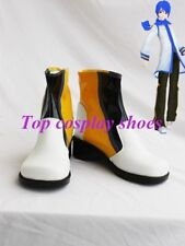 Vocaloid Kaito PU Leather Cosplay Short Boots Shoes 3 Custom-made