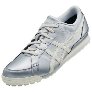 ASICS Golf Shoes GEL PRESHOT CLASSIC 3 Wide 1113A009 Silver Cream With Tracking