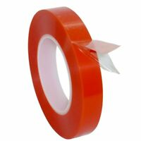 Double Sided Super Sticky Tape Red Strong 50m Craft DIY Roll Adhesive 2 3mm