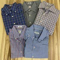 Peter Millar (Lot of 5) Men's Medium Long Sleeve Plaid Button Down Shirts