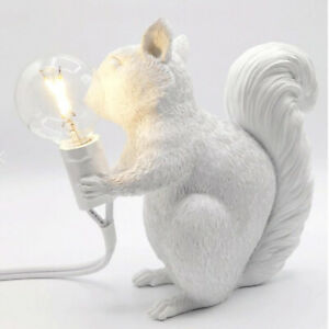 Squirrel Lamp Wall Light Resin Wall Sconce Bedside Table Lamps Nightlight