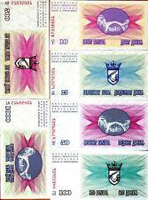 SET, Bosnia-Herzegovina, 10;25;50;100;500;1000 1992, Picks 10;11;12;13;14;15 UNC