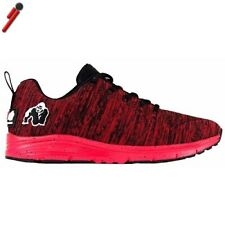 Gorilla Wear, Brooklyn Knitted Sneakers Rosso/Bianco Scarpe Unisex