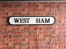Vintage madera signo calle West Ham