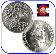 2020 Niue Tree of Life 1 oz Silver $2 Coin in direct fit capsule