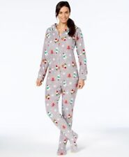 Family Pajama Women s Holiday Happy Gnomes Footed Pajamas. Size L a56f3a1fb
