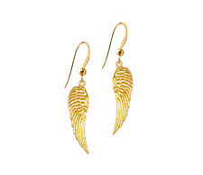 *Ckstella* Lovely Gold Angel Wings Wing Pewter Dangle 14K Gold gf Earrings