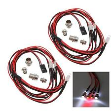 2Sets 1/10 1/8 Upgrade Parts 4 LED Light Set Headlight Taillight for HSP RC Cars