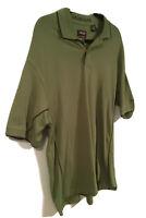 Men's IZOD XFG Cool-FX  Swingflex Short Sleeve Polo Shirt Green-Sz Large