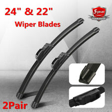 "24"" & 22"" Premium Hybrid silicone Windshield Wiper Blades High Quality J-Hook SE"