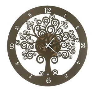 Orologio da parete soggiorno Albero Della Vita Grande Design Arti e Mestieri