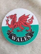 Wales Cymru Dragon Welsh Flag Circular Sticker From 99p