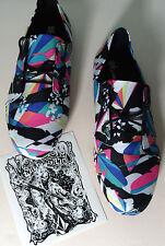 Volcom Neón Zapatos UK 5 & Adhesivo Nuevo entrenadores señaló consejos Skate Punk Rosa Azul