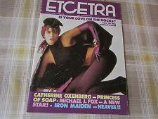 ETCETRA 1980's Modern 80's Girl DC Thompson Magazine 1986 # 25 Music Fashion etc