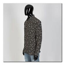 SAINT LAURENT PARIS 990$ Crepe De Chine USA Skull Print Tshirt In Black Silk