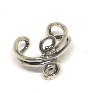 sterling silver 925 ear cuff blank with swirl design