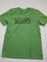 "Mini Cooper Car ""Mini"" green t-shirt short sleeve green size medium A9"