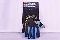 Men's Nike Elite Stormfit Tech Running Gloves, Black, Blue, Orange, Small