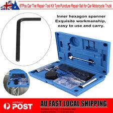 67PCS Car Tire Repair Tool Kit Tyre Puncture Repair for Car Motorcycle AU STOCK