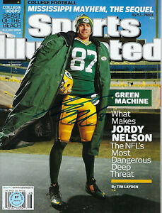 PACKERS Jordy Nelson signed Sports Illustrated magazine COA HOLO AUTO 2014 SI