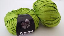 400 G DaCapo lana grossa FB. 015 VERDE NASTRINO filato 100% COTONE
