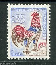 FRANCE - 1962 - timbre 1331 - oiseau, type Coq - neuf**