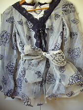 BRAND NEW LIZ LISA BLUE  TOP FROM JAPAN SIZE  8