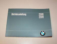 Betriebsanleitung BMW  2500 / BMW 2500 Automatic - Stand 1968!