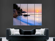SUNSET BAY SAND BEACH SCENERY GIANT WALL POSTER ART PICTURE PRINT LARGE HUGE