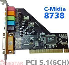 PCI 5.1 6 channel C-Media 8738 chipset 3D digital audio Sound  Card
