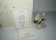 Whisper of Spring Lenox Classics Butterfly On Iris - 24Kt Gold Accents - Mib