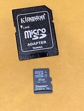 Kingston 8GB SDHC Micro SD Card + Adapter