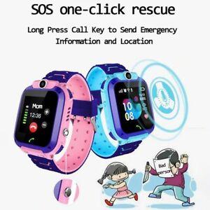 Q12 Montre Intelligente Smartwatch Enfant SOS Téléphone Carte Sim IP67 IOS Andro