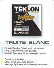 10 hamecon Carbone Monte Grauvell peche a la Truite Blanc 4 Tailles N° 12 Diamètre 16