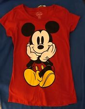 Disney- Red Shirt With Mickey On Front & Back- Sz M- Nwt-