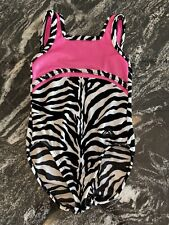 Gymnastic Dance Leotard Child Extra Small Zebra Pink Alpha Factor excellent cond
