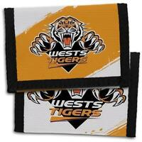 98702 BRISBANE BRONCOS NRL TEAM LOGO KIDS NYLON WALLET GIFT IDEA