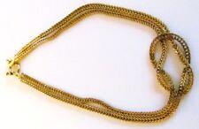 Vintage 14k gold signed Aurea double herringbone chain and knot bracelet 4 grams