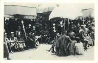 Genuine photograph postcard Africa Gold Coast GHANA 1945 petty chiefs