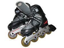 Girl Boy Youth Ufx Abec 3 Flexible Fit Adjustable Inline Black Skates Size 1-4