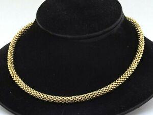 """Fope Italian designer 18K YG 6.5mm wide 20"""" long mesh tube chain necklace"""