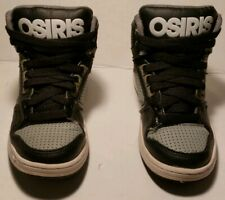 OSIRIS SKATEBOARD SNEAKERS SHOES Boys Size 11 Black And Gray High Tops